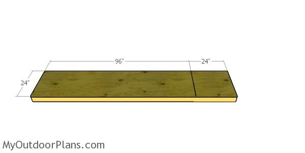 Floor sheet for cat tunnel A