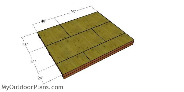 Floor sheets - 10x12 storage shed