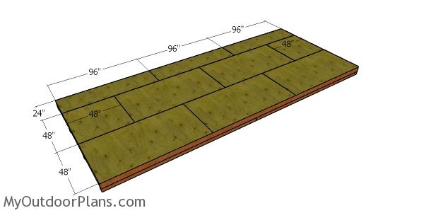 Floor sheets - 10x24 shed