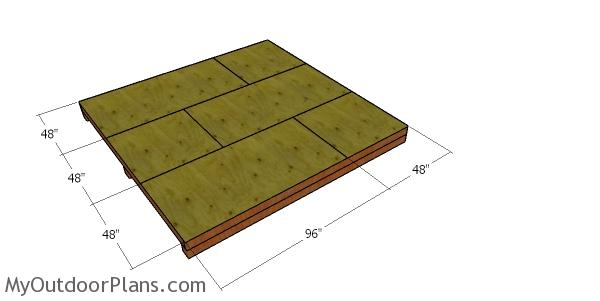 Floor sheets - 12x12 hip shed floor