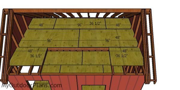 Floor sheets - loft for the dormer