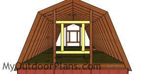 Framing the window for loft
