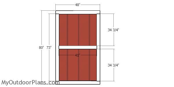 Front door - 10x12 shed