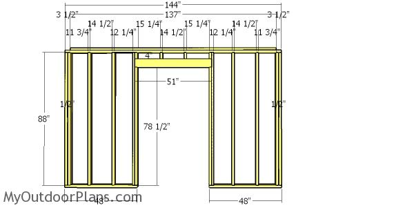 Front wall frame - 10x12 shed