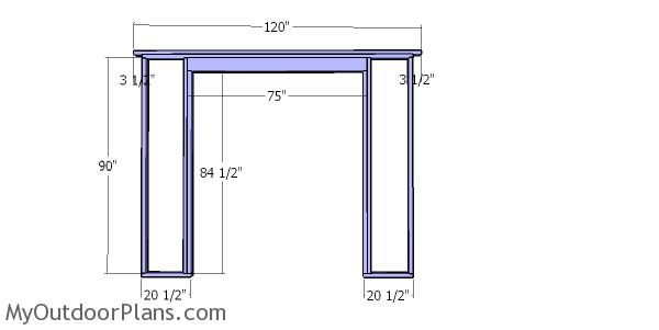 Front wall frame - 10x24 shed
