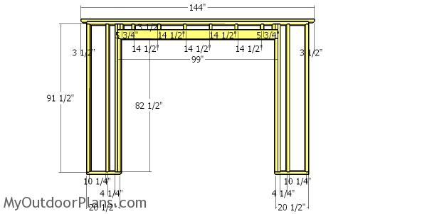 Front wall frame - 12x16 shed with dormer