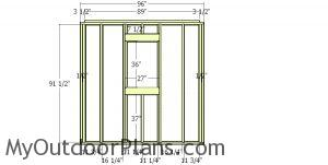 Front wall frame 2