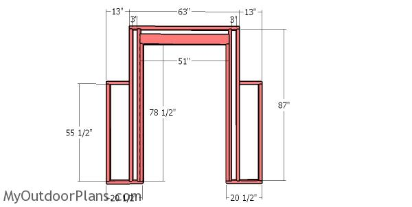 Front wall frame - diy storage shed