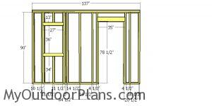 Front wall frame - small barn cabin