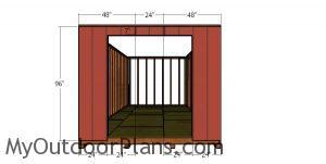 Front wall siding sheets - 10x24 gambrel shed