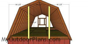 Gambrel end supports - 12x22 shed