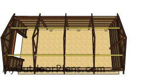 Horizontal supports for the roof of the pole barn