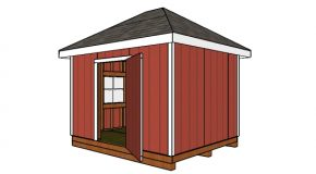 10×12 Shed with Hip Roof – Free DIY Plans