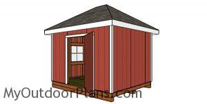 How to build a 10x12 hip roof shed