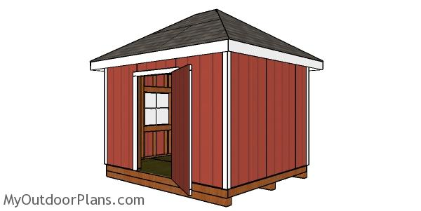 10x12 Shed with Hip Roof - Free DIY Plans