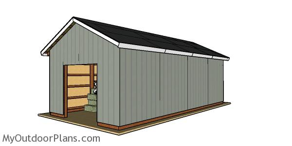 16x32 Pole Barn - Free DIY Plans