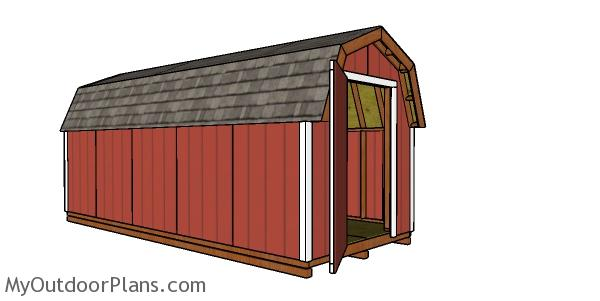 How to build a 8x20 gambrel shed
