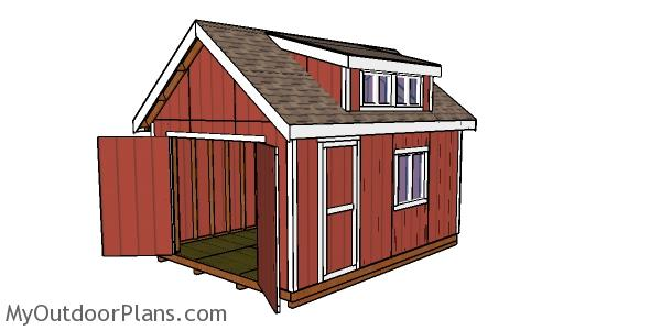 How to build a shed with dormer