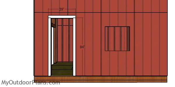 Jambs for side door - shed with loft