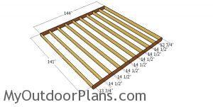 Large floor frame - 12x20 gambrel shed