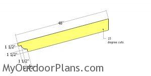 Main rafter for picnic table arbor