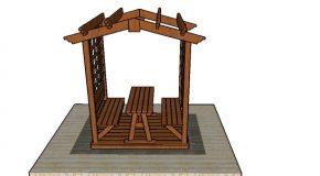 Picnic Table Arbor – Free DIY Plans