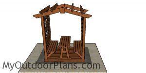 Picnic table pergola plans