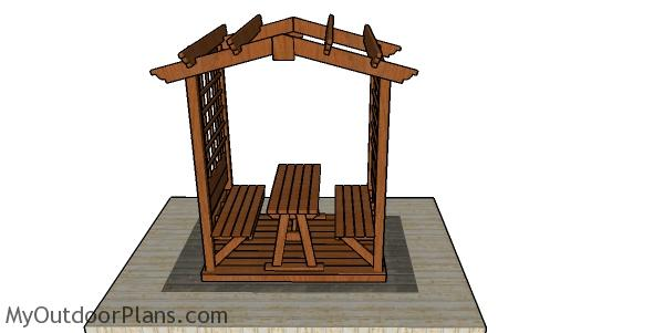 Picnic table pergola plans