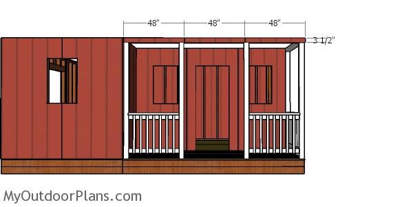 Porch siding sheets