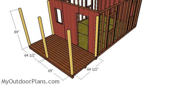 Posts for the small cabin porch