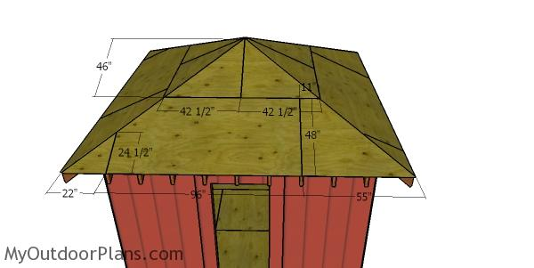 Roof sheets - 12x12 hip shed