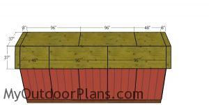 Roofing sheets - 8x20 barn shed