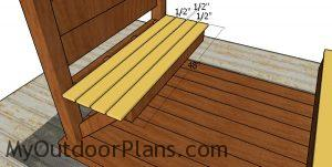 Seat slats - picnic table with arbor
