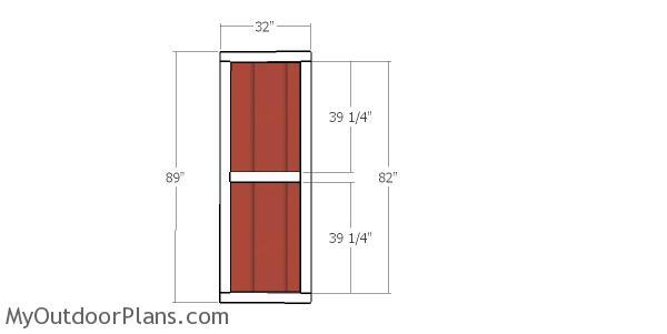 Side door - 10x24 shed