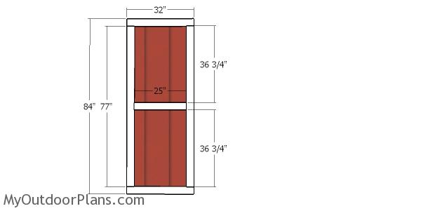 Side door for shed