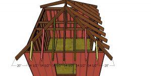 Side jack rafters