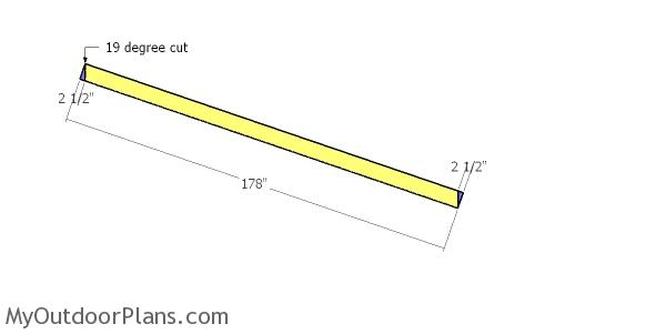 Side roof trims - 12x16 shed