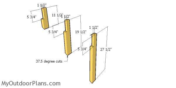 Side supports for the dormer