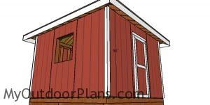 Side trims - 12x12 shed