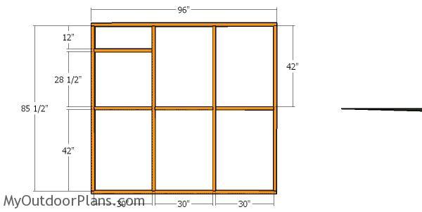 Side wall frame