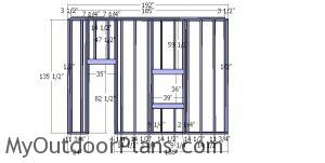 Side wall frame - 12x16 shed with lott