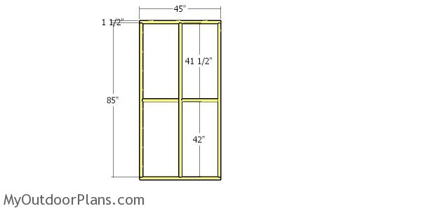 Side wall frame - 4x8 catio