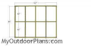 Side wall frame - 8x10 catio