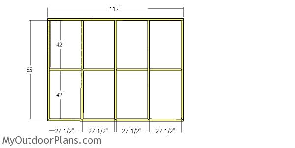 Side wall frame - 8x10 catio