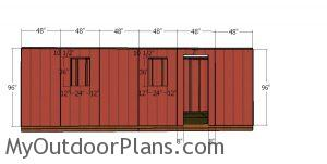 Side wall panels - 10x24 shed