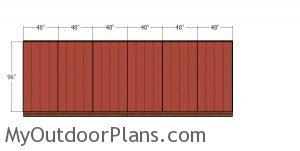 Side wall siding panels - 10x24 shed