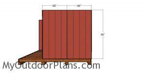 Side wall siding sheets - barn shed