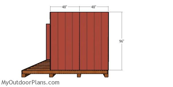 Side wall siding sheets - barn shed