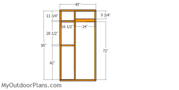 Side wall with door - catio 4x8