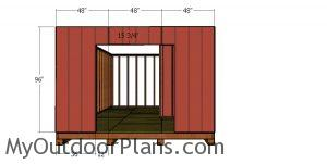 Side wall with double doors siding